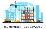 a building under construction... | Shutterstock .eps vector #1976292062