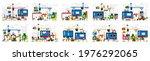 set of vector illustrations ... | Shutterstock .eps vector #1976292065