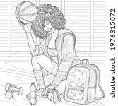 black girl basketball player... | Shutterstock .eps vector #1976315072