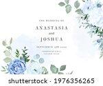 dusty blue rose  white... | Shutterstock .eps vector #1976356265