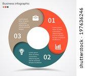 modern vector info graphic for... | Shutterstock .eps vector #197636246