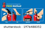 how to use fire extinguisher...   Shutterstock .eps vector #1976488352