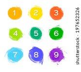 set of nine vector watercolor...   Shutterstock .eps vector #197652326