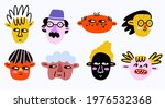 a set of quirky portraits of...   Shutterstock .eps vector #1976532368
