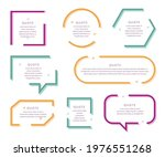 quote box frame set. text...   Shutterstock .eps vector #1976551268