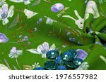 Cotton  Green Background With A ...