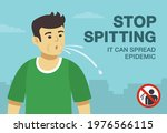spitting young male character.... | Shutterstock .eps vector #1976566115