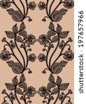 seamless lace pattern. black...   Shutterstock . vector #197657966