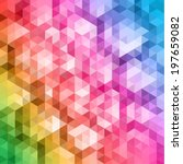 colorful geometric background | Shutterstock .eps vector #197659082