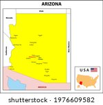arizona map. state and district ... | Shutterstock .eps vector #1976609582