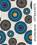 seamless african wax print... | Shutterstock .eps vector #1976614475
