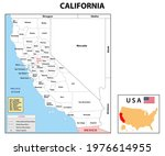 california map. state and... | Shutterstock .eps vector #1976614955