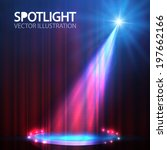 spotlight on stage curtain with ... | Shutterstock .eps vector #197662166