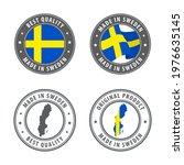 made in sweden   set of labels  ... | Shutterstock .eps vector #1976635145
