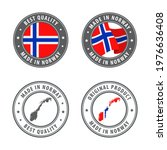 made in norway   set of labels  ... | Shutterstock .eps vector #1976636408