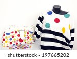 polka dots and stripes blouse...   Shutterstock . vector #197665202