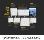 vector simple dark infographic... | Shutterstock .eps vector #1976655242