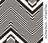 abstract chevron motif striped... | Shutterstock .eps vector #197665766