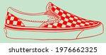 checkered slip on. shoe. trendy ...   Shutterstock .eps vector #1976662325