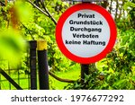 Old Private Sign In Germany  ...