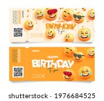 birthday party gift certificate ...   Shutterstock .eps vector #1976684525