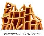 destroyed building after...   Shutterstock .eps vector #1976729198