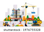 construction site with... | Shutterstock .eps vector #1976755328