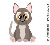 cartoon sphinx cat character... | Shutterstock .eps vector #1976766725