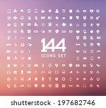 universal modern icons for web ... | Shutterstock .eps vector #197682746
