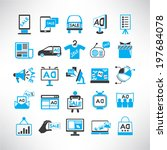 advertising icons set ... | Shutterstock .eps vector #197684078