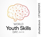 world youth skills day  wysd ... | Shutterstock .eps vector #1976859095