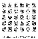 set of customer support thin... | Shutterstock .eps vector #1976895575