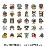set of chinese new year thin... | Shutterstock .eps vector #1976895602