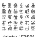set of sewing equipment thin... | Shutterstock .eps vector #1976895608