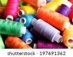 Multicolor Sewing Threads On...