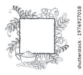 vector frame with hand drawn... | Shutterstock .eps vector #1976927018