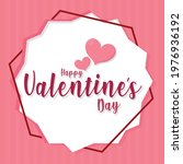 happy valentines day card with...   Shutterstock .eps vector #1976936192