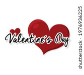 happy valentines day card with...   Shutterstock .eps vector #1976936225