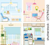 illustration of room | Shutterstock .eps vector #197696132