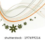 floral background. abstract... | Shutterstock .eps vector #197699216