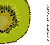 sliced kiwi fruit isolated on...   Shutterstock .eps vector #1976993408