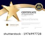 certificate template. diploma... | Shutterstock .eps vector #1976997728