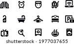 hotel black  icons vector...   Shutterstock .eps vector #1977037655