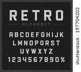retro type font vintage chalk... | Shutterstock .eps vector #197704202