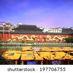 Golden Dragon And Dragon Boat...