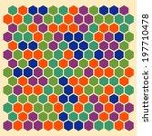 hexagon pattern | Shutterstock . vector #197710478