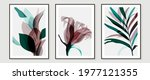 abstract art tropical leaves... | Shutterstock .eps vector #1977121355