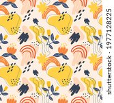 seamless pattern flowers and... | Shutterstock .eps vector #1977128225