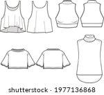 tank top fashion flat sketch... | Shutterstock .eps vector #1977136868