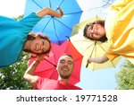 funny colorful friends with... | Shutterstock . vector #19771528